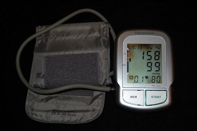 lazeris gydant hipertenziją