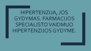 hipertenzija ir jos komplikacijos