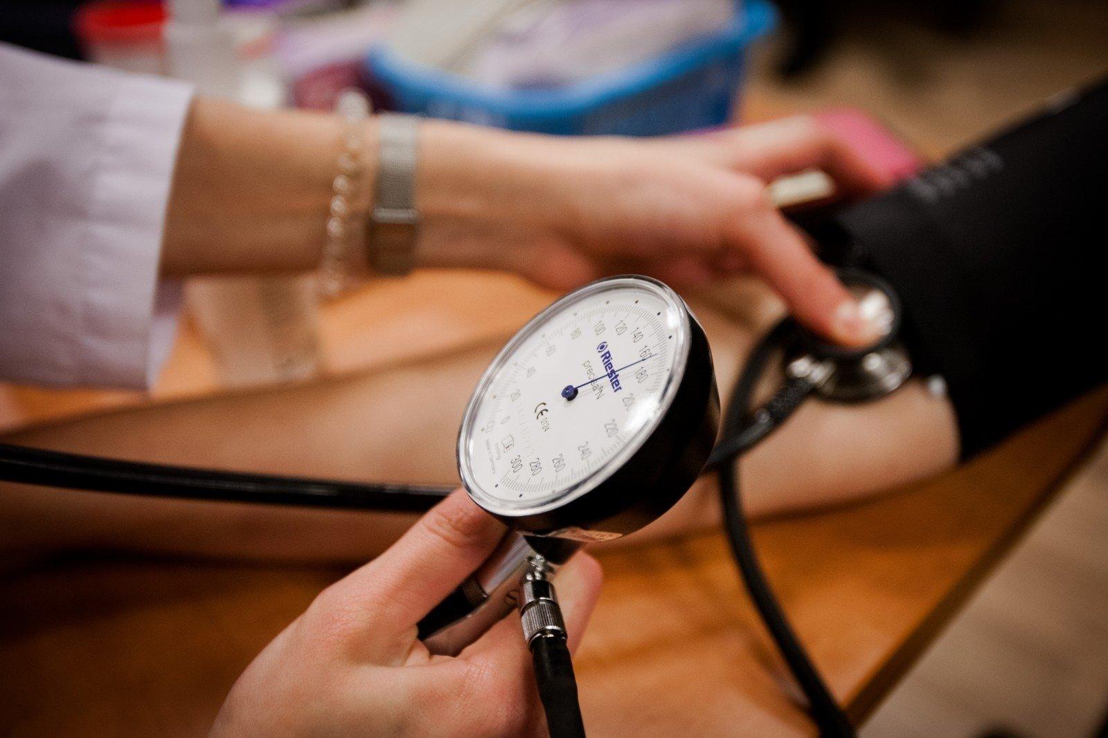 pirmoji pagalba hipertenzijai namuose asmeniui)