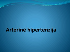 hipertenzijos energija)