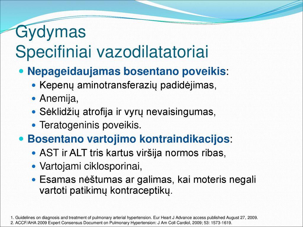 hipertenzijos su anemija gydymas)