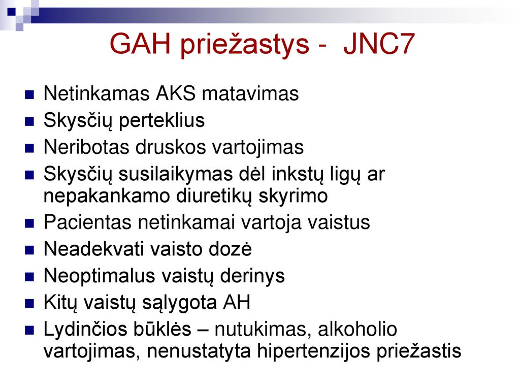 5 hipertenzijos priežastys)