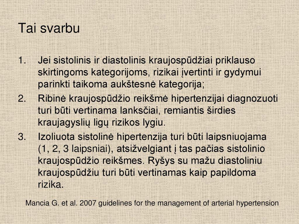 antrojo laipsnio hipertenzija rizika trys