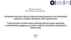 hipertenzijos tikslai ir uždaviniai