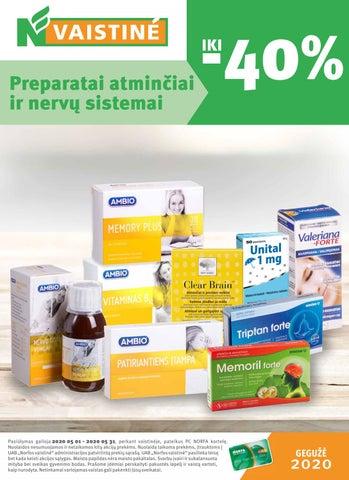 vitaminų kompleksas hipertenzijai gydyti