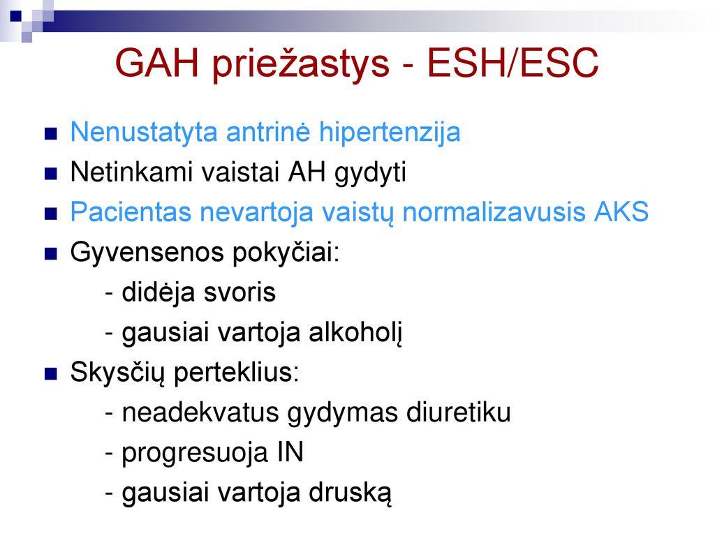 hipertenzijos priežastys