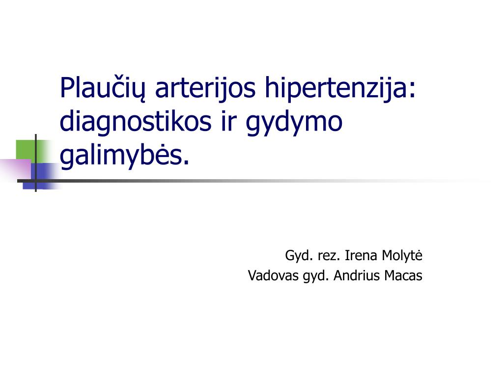 numatoma hipertenzija