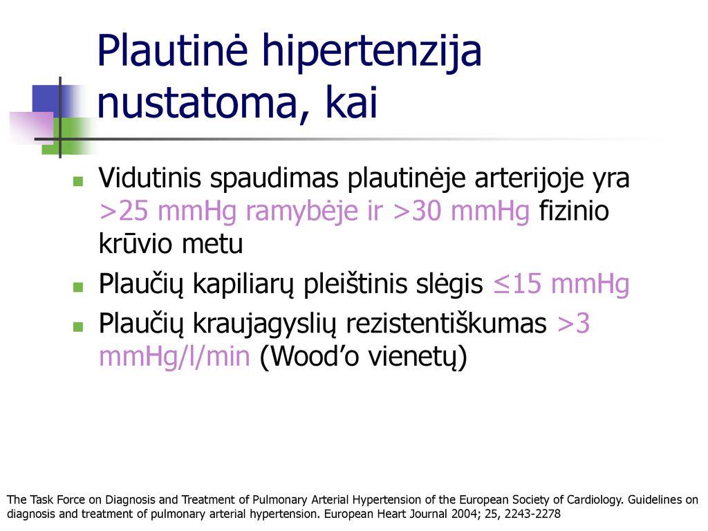 kokio slėgio metu diagnozuojama hipertenzija