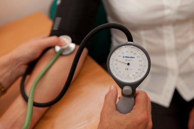gydo hipertenziją namuose