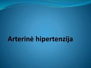 pirminė hipertenzija antrinė)