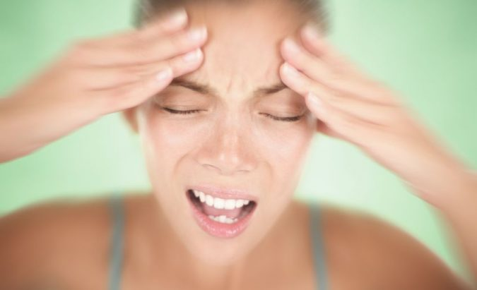 malšinti galvos skausmą esant hipertenzijai)