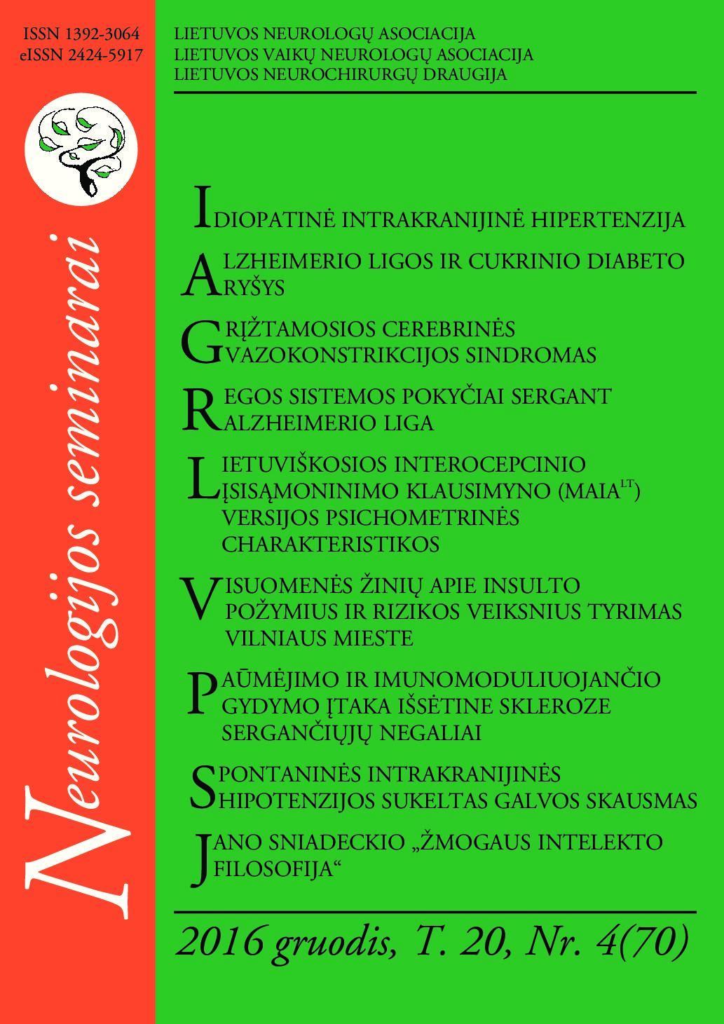 Arterinė hipertenzija ir centrinės nervų sistemos pažeidimai: neurologo požiūris | eagles.lt