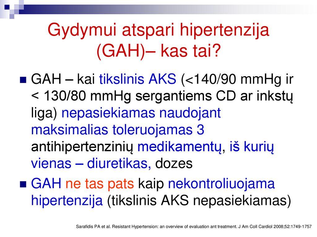 susijusios problemos su hipertenzija