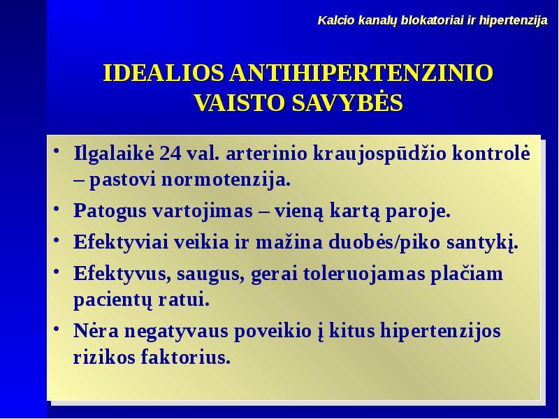 hipertenzija, kuris vaistas yra efektyvesnis)