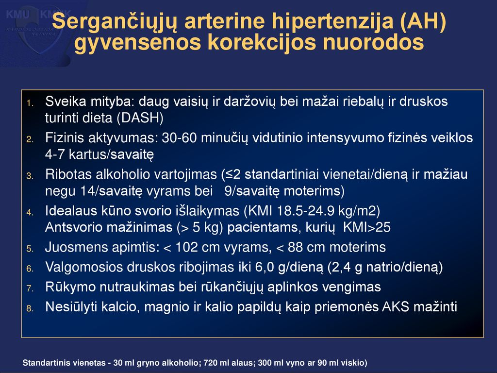 Dieta hipertenzijai