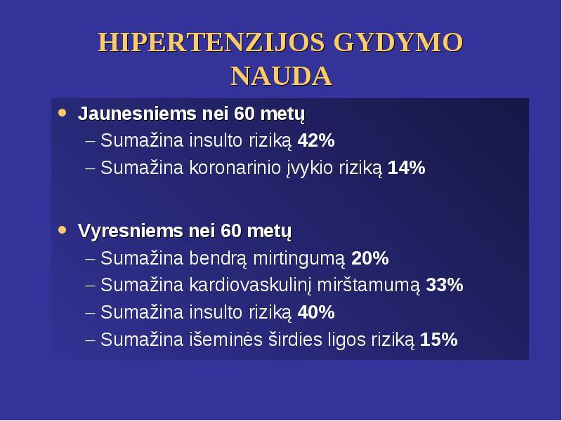 insulto rizika esant hipertenzijai)