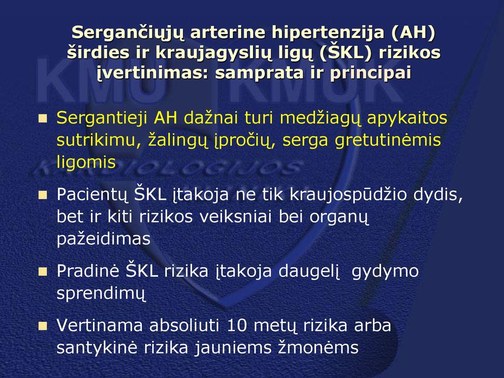 3 laipsnio hipertenzijos rizikos prognozė