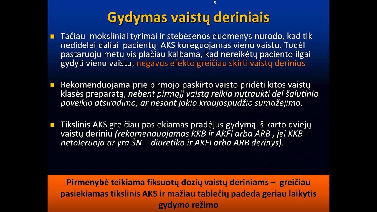 hipertenzijos gydymas be šalutinio poveikio)