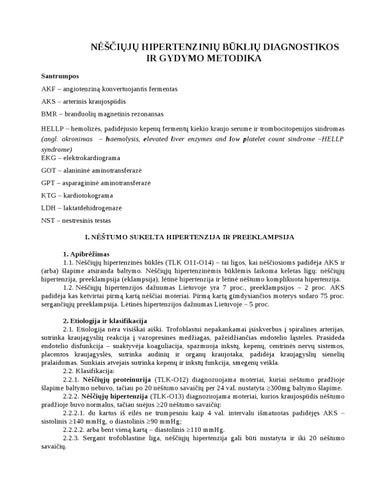 komplikuotas hipertenzijos gydymas)