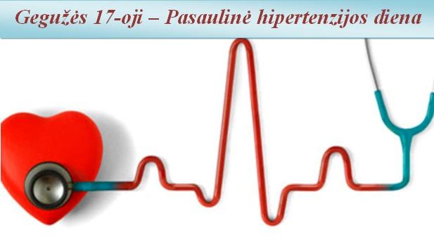 pagrindinis hipertenzijos simptomas)