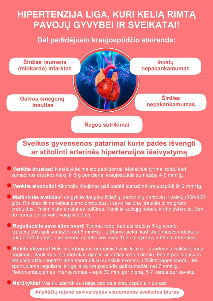 inkstų arterijos stenozė ir hipertenzija