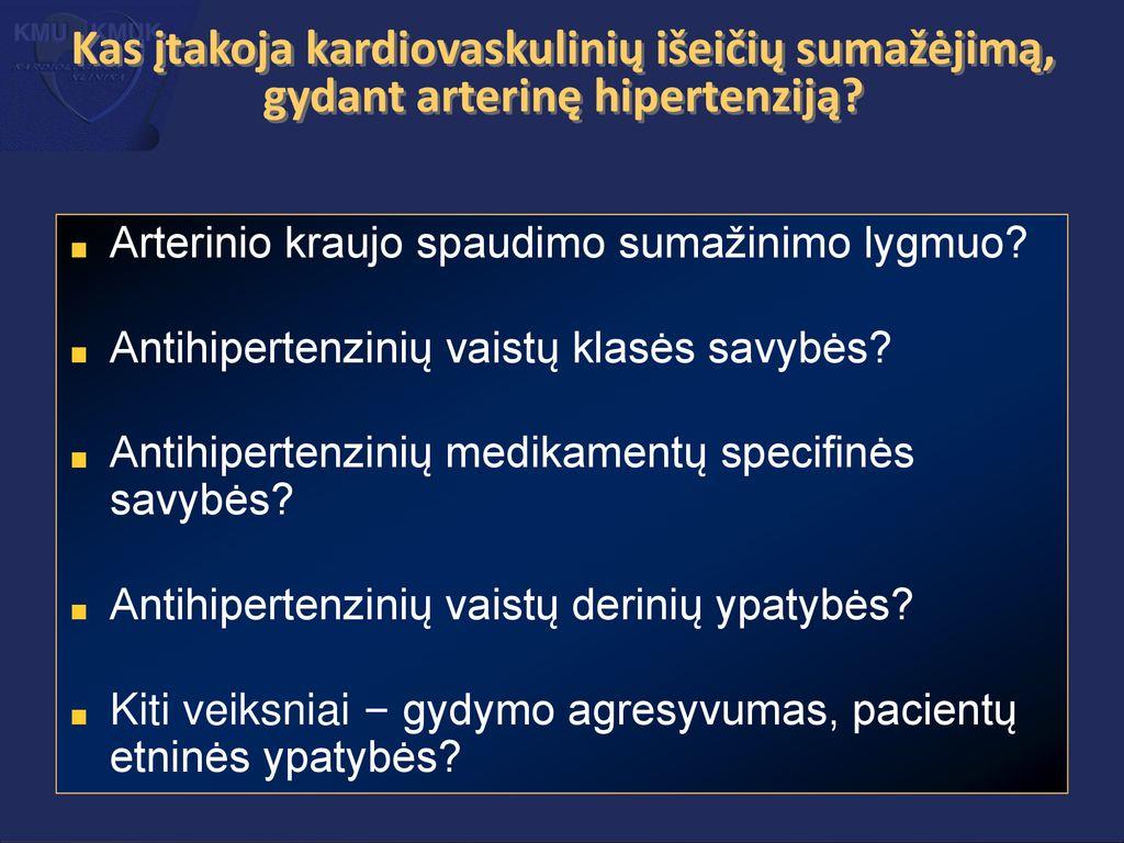 kompleksiniai vaistai gydant hipertenziją