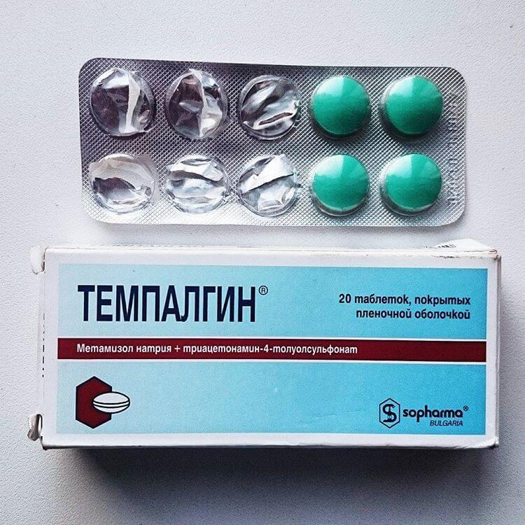 Analginum arba tempalginas su galvos skausmu