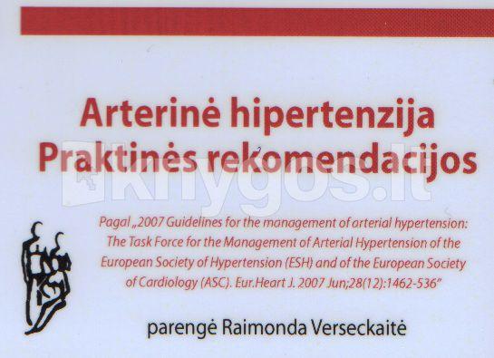 hipertenzija vaikų klinikinėse rekomendacijose)
