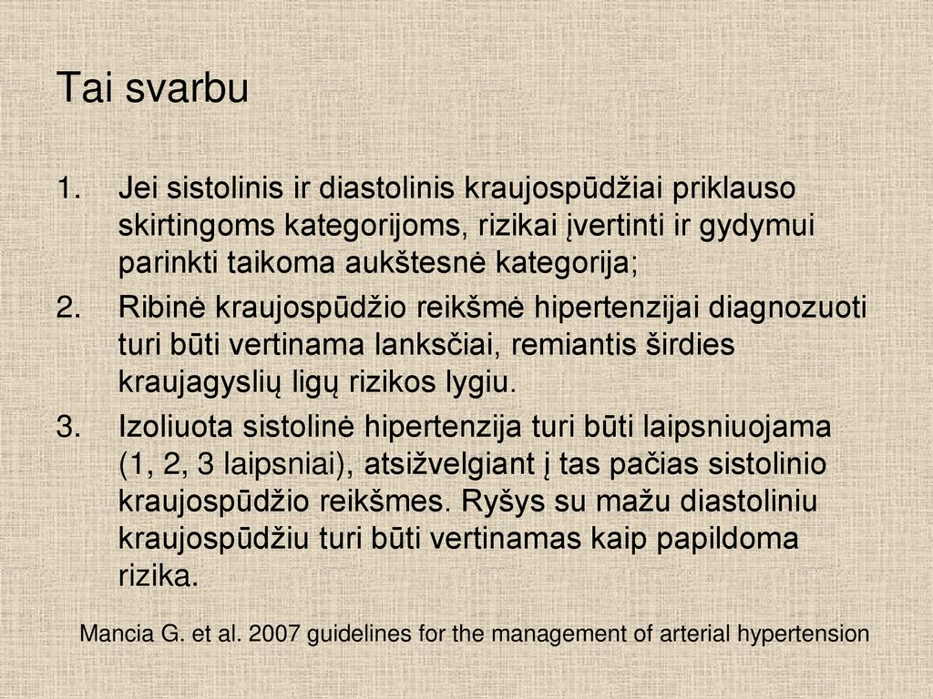 kaip JAV gydoma hipertenzija