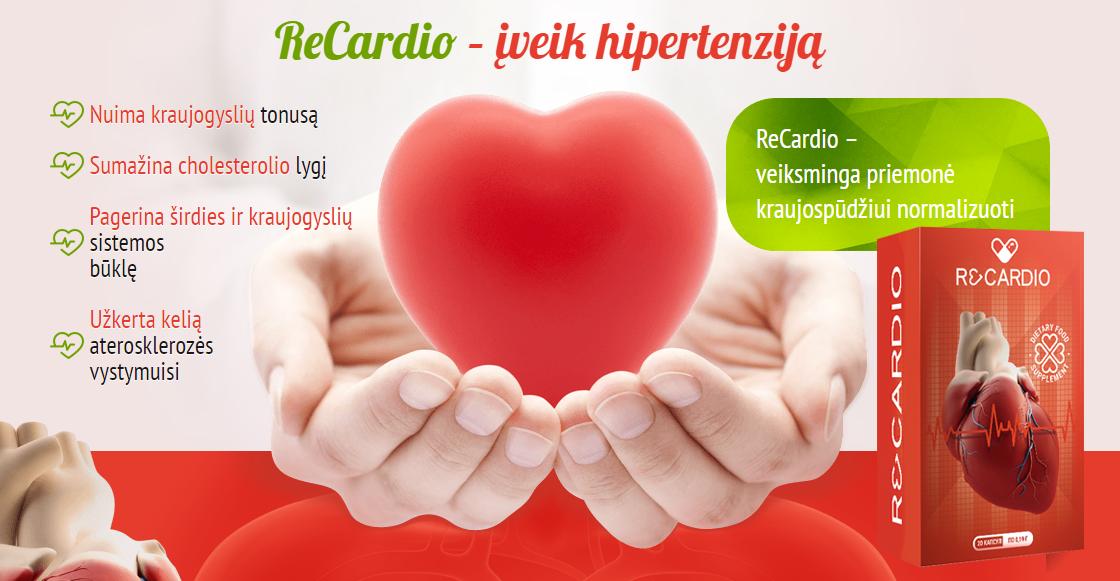 hipertenzija ir maitinimas