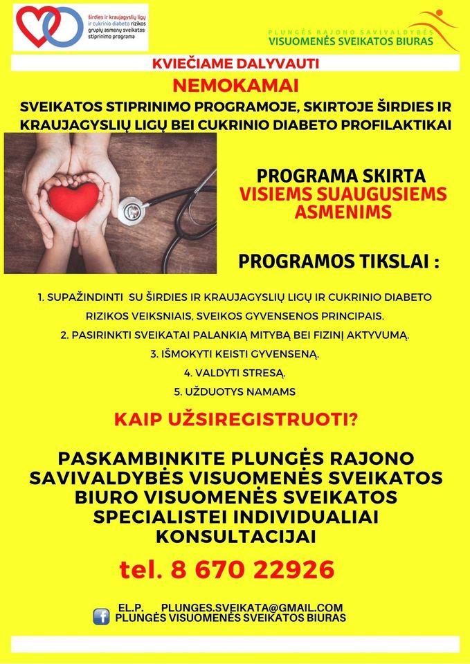 širdies ligos ir sveikatos stiprinimas
