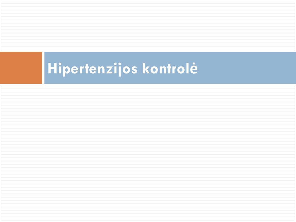 hipertenzijos analogai