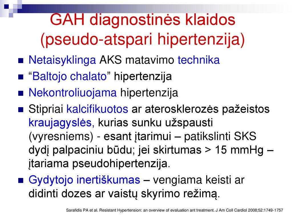 vaistai hipertenzijos farmakologijai gydyti