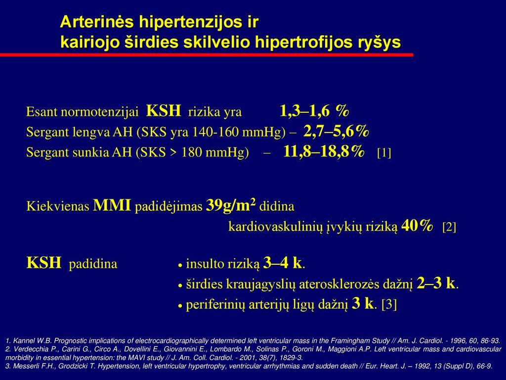 hipertenzija 1 3 pakopos rizikos laipsnis