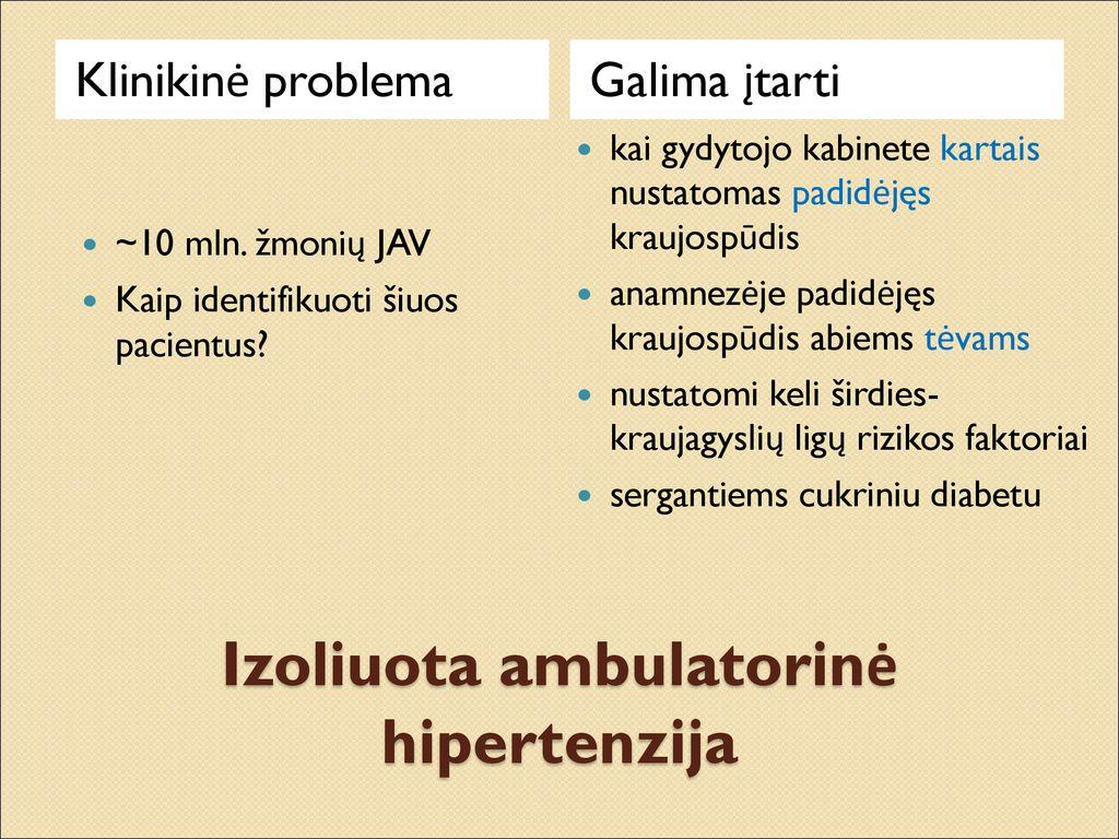 susijusios ligos hipertenzija