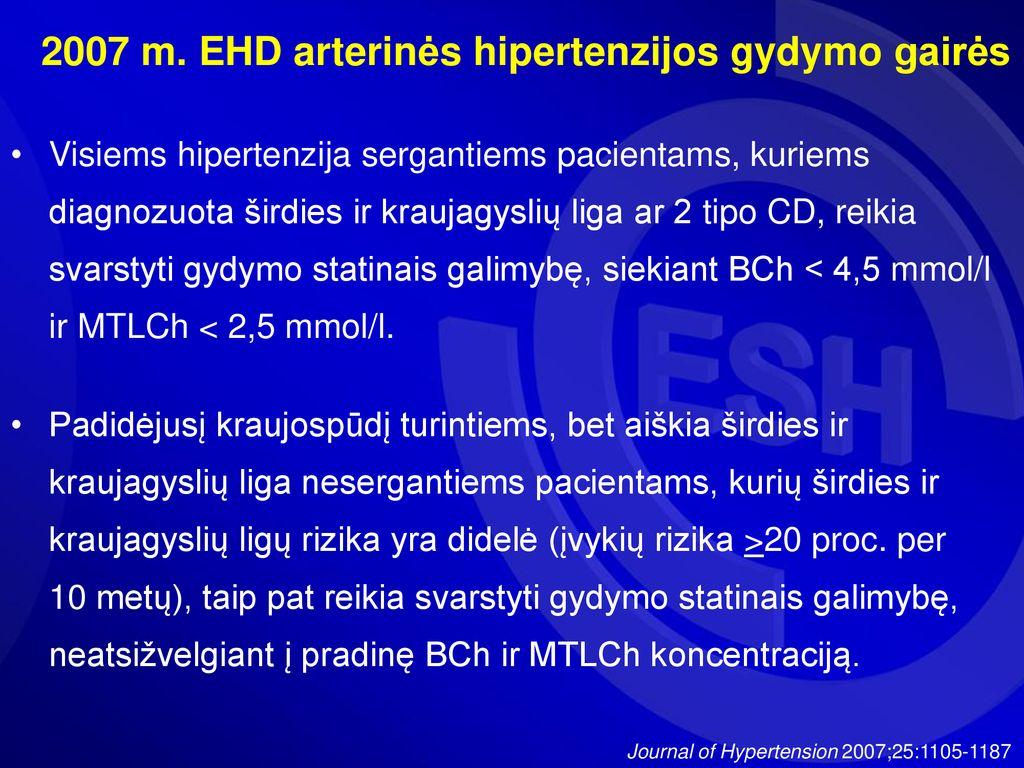 kokia liga yra 3 rizikos hipertenzija