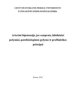 hipertenzijos profilaktika ir jos gydymas