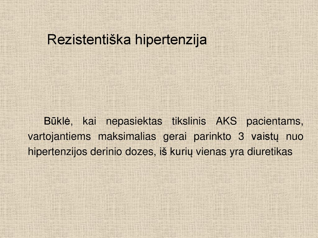 Arterinė hipertenzija   eagles.lt