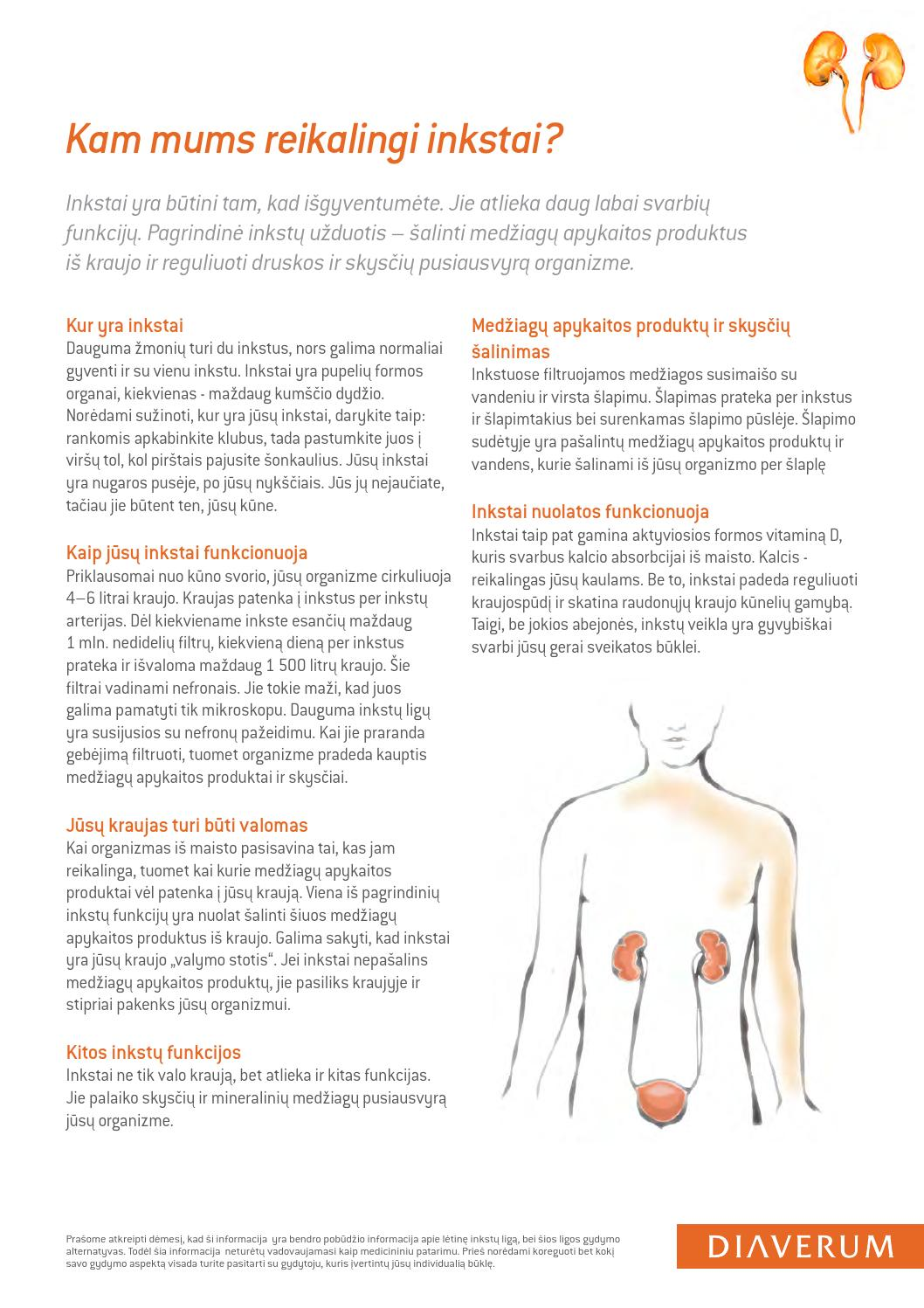 hipertenzija gydant inkstų nepakankamumą
