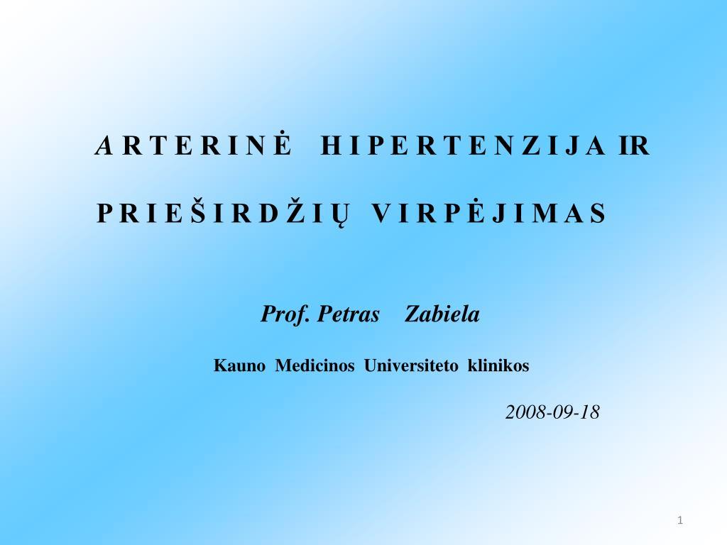 hipertenzija vazokonstriktorius)