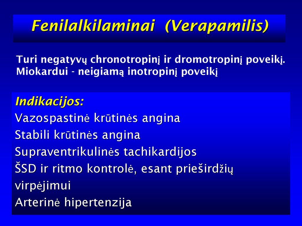 hipertenzijos ir krūtinės anginos gydymas