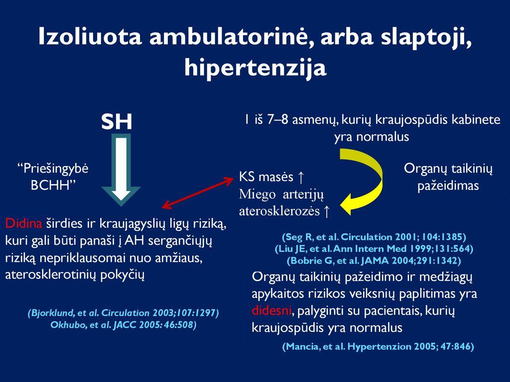 hipertenzijos kraujagyslių būklės laipsnis