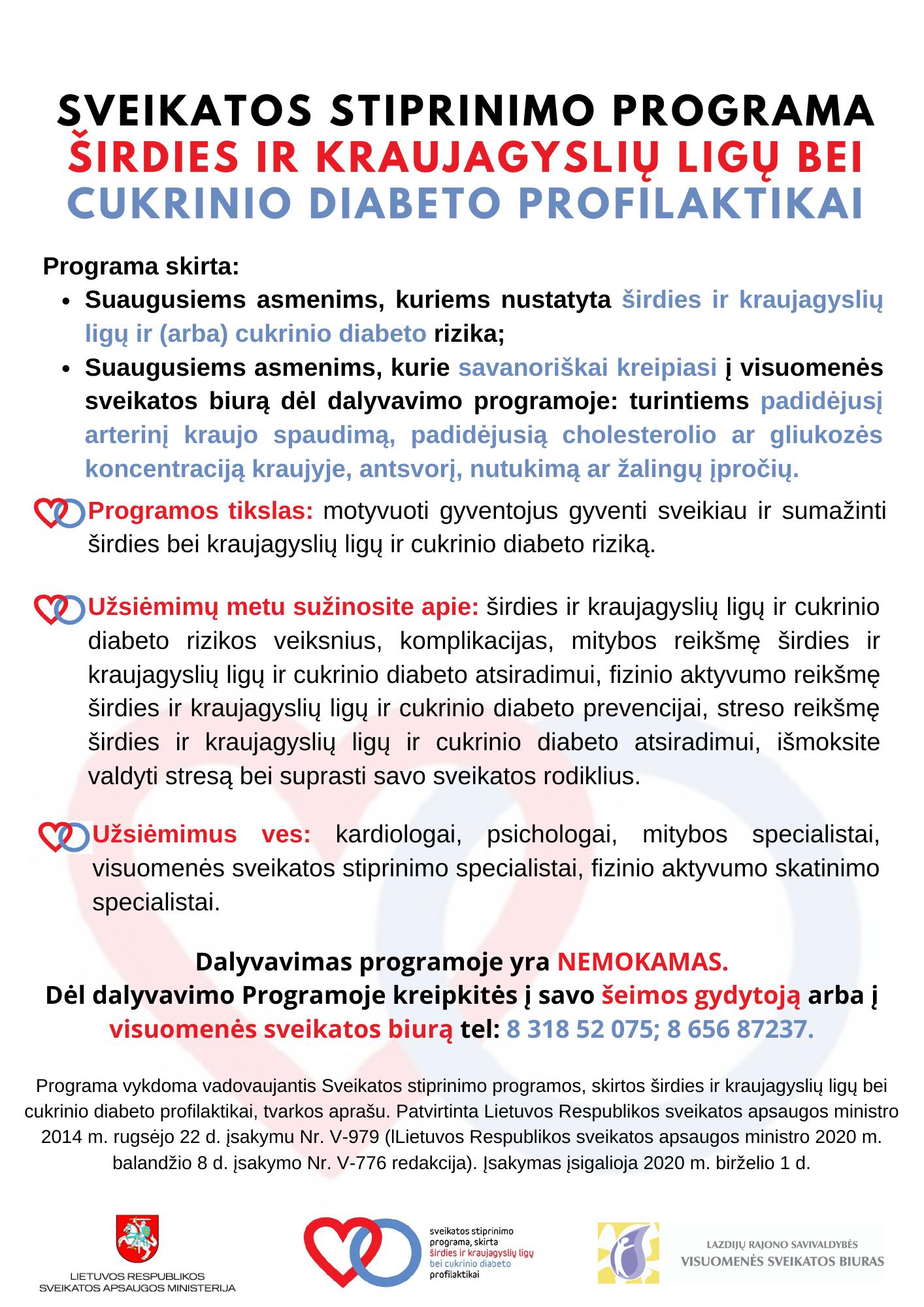 širdies ligų sveikatos stiprinimo programos