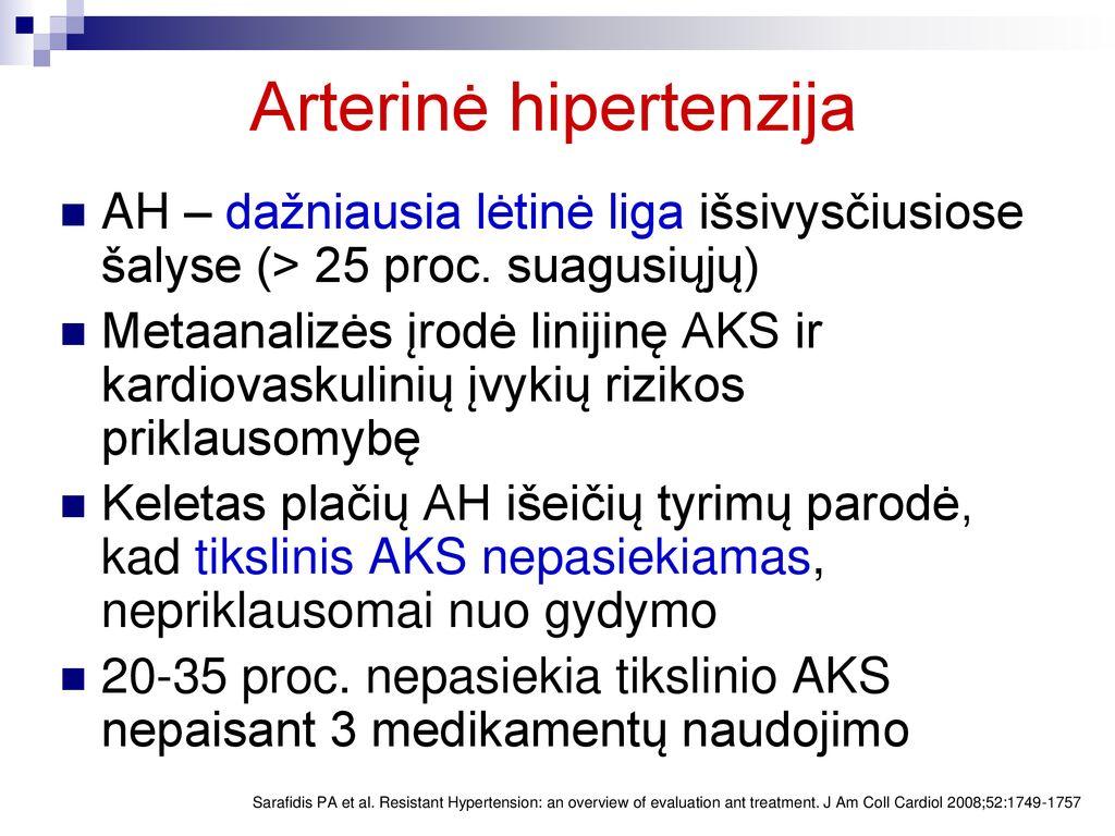 lėtinė hipertenzija kaip gydyti