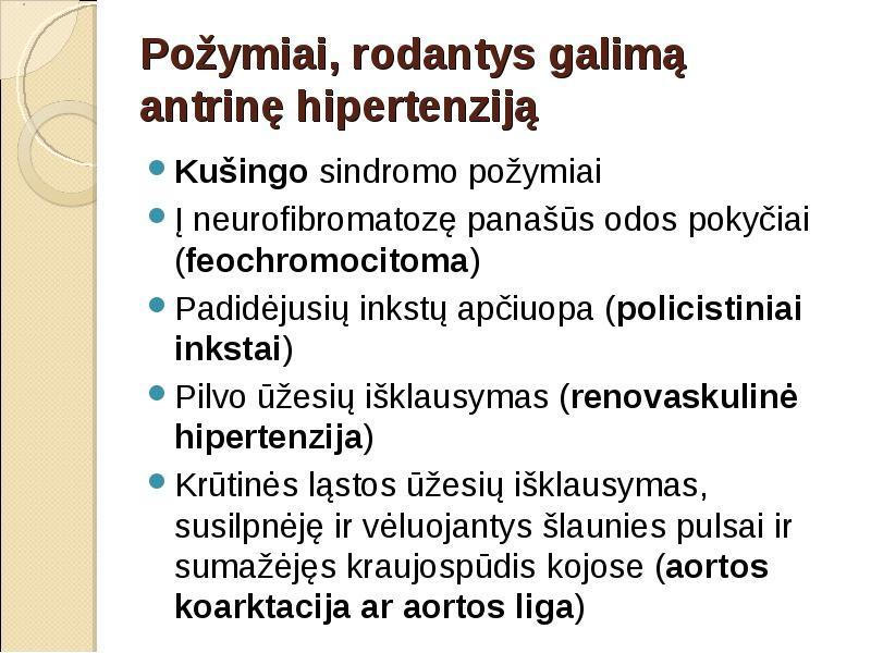 pagrindiniai ligos hipertenzijos požymiai